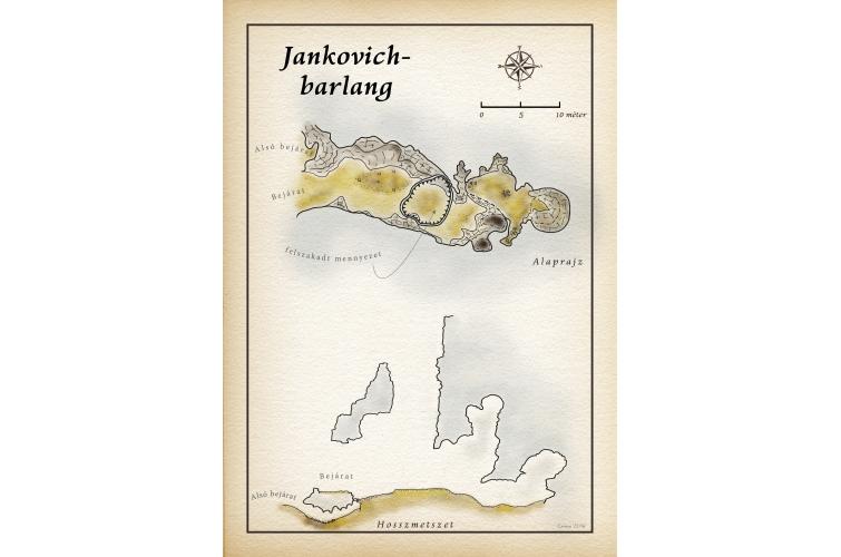 Jínkovich-barlang-térkép