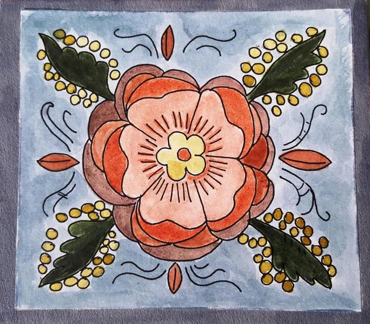 Alkotás festőnövényekkel (Takáts Margit)