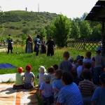 Bemutató a Strázsa-hegy lábánál