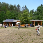 Az oktatóközpont udvara