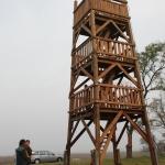 Madármegfigyelő torony a bicikliút mentén