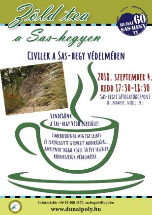 09.04. Zöld tea a Sas-hegyen – Civilek a Sas-hegyért