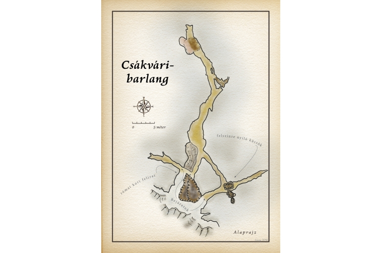Csákvári-barlang térkép