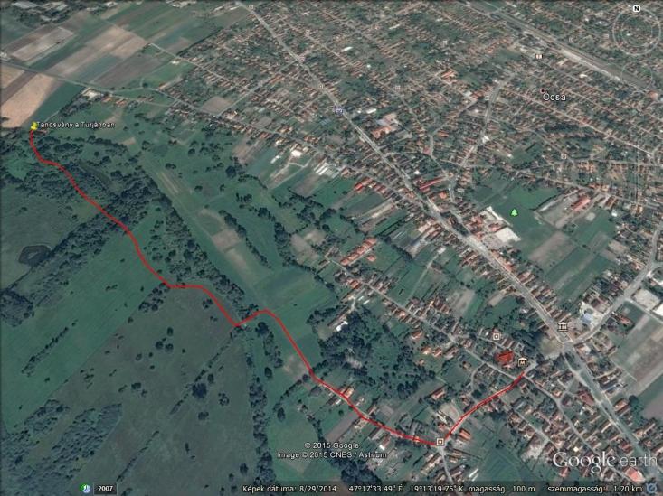 Tanösvény  aTurjánban – Aktív térképért gördítsen lejjebb!