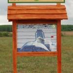 A tanösvény egyik táblája
