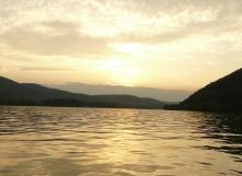 Kenuval a Szentendrei Duna-ágon