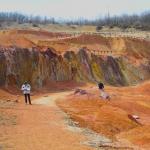 A Gánti felhagyott bánya látképe