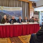 Az együttműködés részvevői a közös sajtótájékoztatón