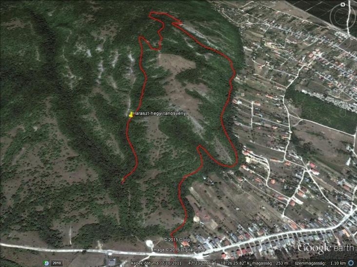 Haraszt-hegyi tanösvény – Aktív térképért gördítsen lejjebb!