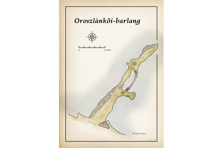 Oroszlánkői-barlang térkép