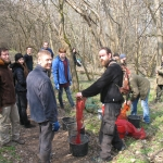 Makkbekapálás önkéntesekkel a Fóti-Somlyón (Fotó: Koncz Péter)