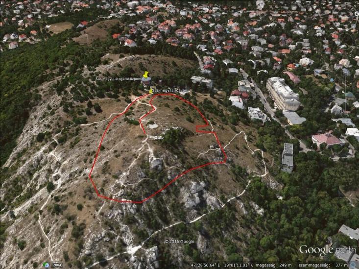 Sas-hegy tanösvény – Aktív térképért gördítsen lejjebb!