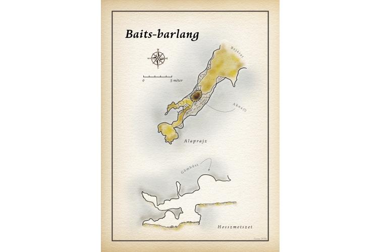 Baits-barlang térkép