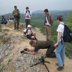 Gimnazista csoport vezetéssel a borbás-gerincen