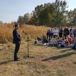 Farmos, Kékbegy tanösvény pallósor átadó 2019.10.15.