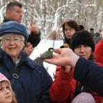 Madárgyűrűzési program télen (fotó: Becsei Katalin)