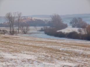 Téli túra a Tápió-vidéken, Gomba-patak (Fotó: Vidra Tamás)