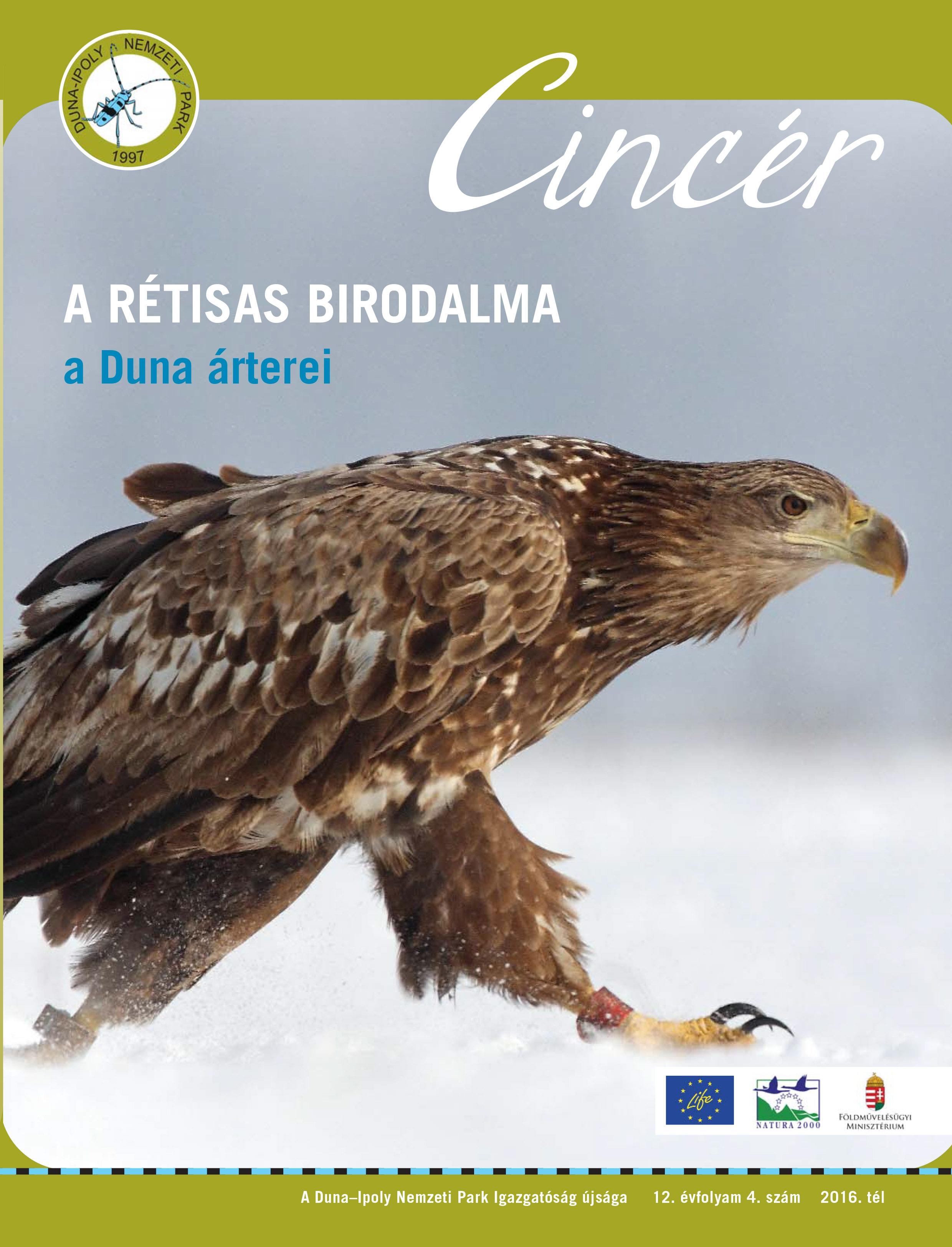 Cincér újság címlap (2016 tél)