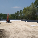 Tavak melletti depónia építése