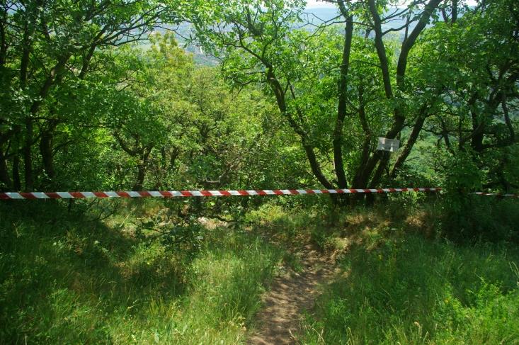 A pomázi Kő-hegy lezárása (Fotó: Novák Adrián)