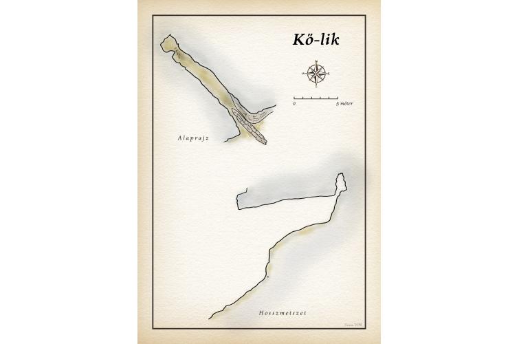 A Kőlik-völgy barlangjai térkép
