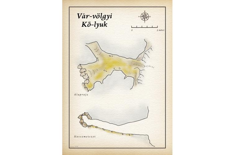 Vár-völgyi Kő-lyuk térkép