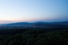 Panoráma a vértesi kilátóból (fotó: Moczik-Eredics Mária))