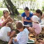 Lenge tábor - meseolvasás