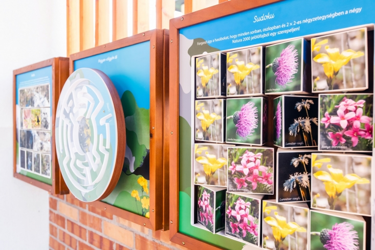 Interaktív játékok a Pilisi Len Látogatóközpontban (Fotó: Biros Zalán)