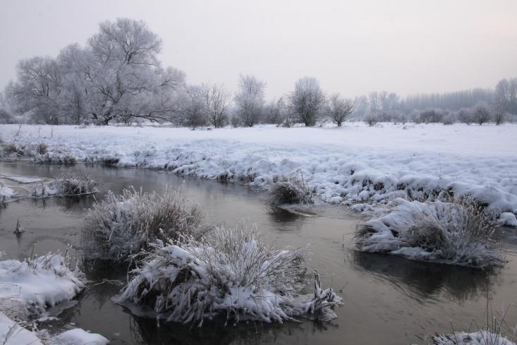 Felső-Tápió télen (Fotó: Vidra Tamás)