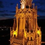 A Mátyás-templom esti fényei