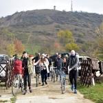 Nanushka Zrt. munkatársainak egy része  kerékpárral érkezett