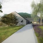 A Dunakanyar Látogatóközpont tervezett főbejárata