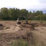 Üzemanyag tárolók területén talajkitermelés