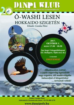 DINPI Klub: Ō-washi lesen Hokkaido szigetén (Plakát: Kálmán Gergely)