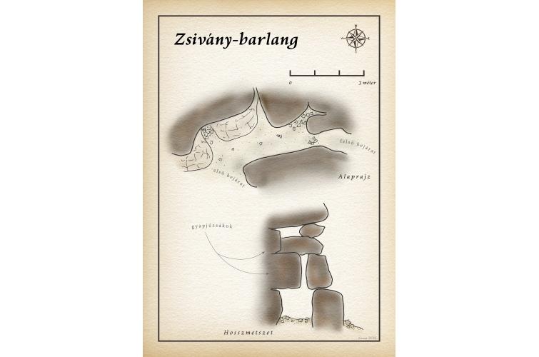 Zsivány-barlang térkép