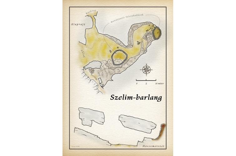 Szelim-barlang térkép