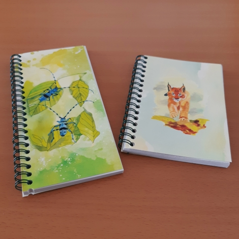 Cincéres és hiúzos jegyzetfüzet