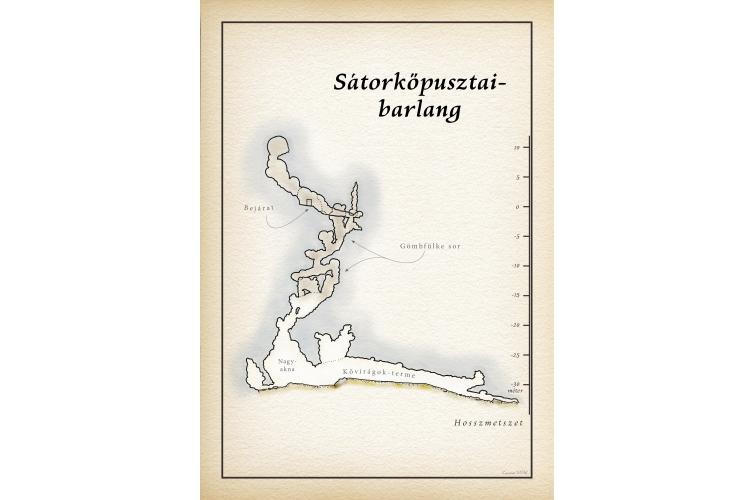 Sátorkőpusztai-barlang térkép